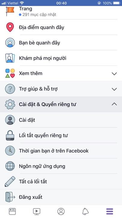 doi mat khau facebook tren dien thoai iphone