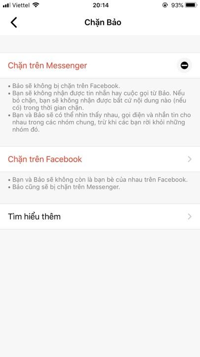 huy chan facebook cua nguoi khac
