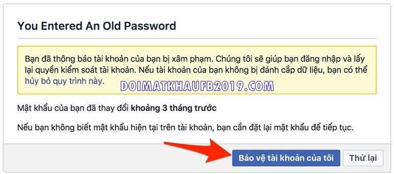 lay lai mat khau facebook bi hack