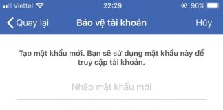 doi mat khau facebook tren dien thoai khi quen mat khau