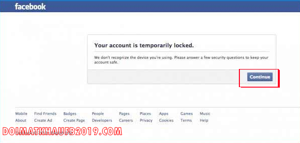 khoi phuc nick facebook bi khoa