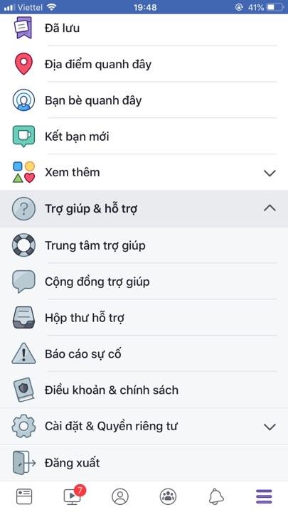 mo chan like facebook tren dien thoai