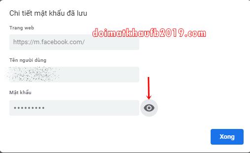 Cach xem mat khau facebook tren dien thoai