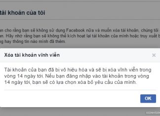 xoa tai khoan facebook nhung quen mat khau