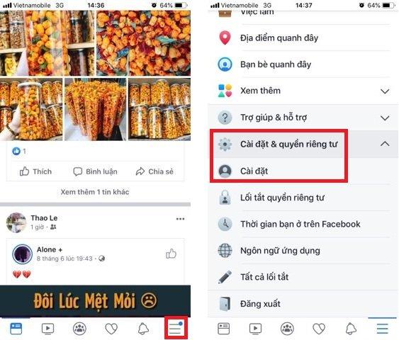 Cách bật nút theo dõi facebook bằng điện thoại 2