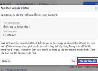 cach doi ten fanpage facebook